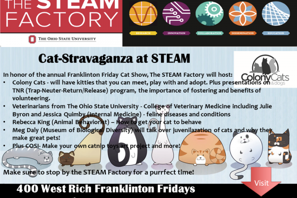January Franklinton Friday Cat-Stravaganza flyer