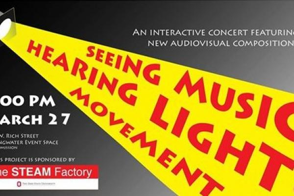 Flyer for Seeing Music, Hearing light and Movement with Anna Gawboy